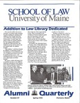 Alumni Quarterly - Issue No. 47 by University of Maine School of Law
