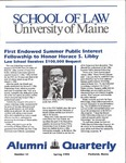 Alumni Quarterly - Issue No. 51 by University of Maine School of Law