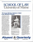Alumni Quarterly- Issue No. 52 by University of Maine School of Law