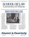 Alumni Quarterly - Issue No. 57 by University of Maine School of Law